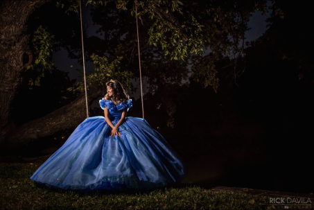 Amaya: here she is wearing my second Cinderella ball gown for her Quinceanera​.