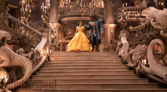 Beauty and the Beast (2017) Emma Watson as Belle and Dan Stevens as Beast
